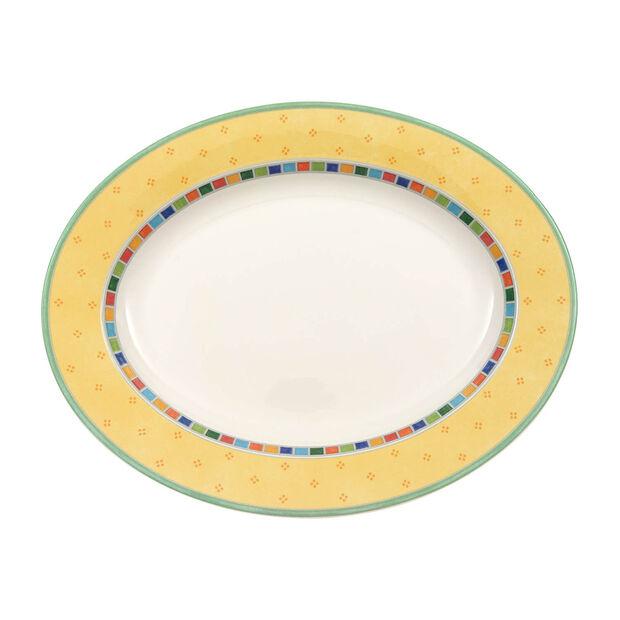 Twist Alea Limone Oval Platter 16 in, , large