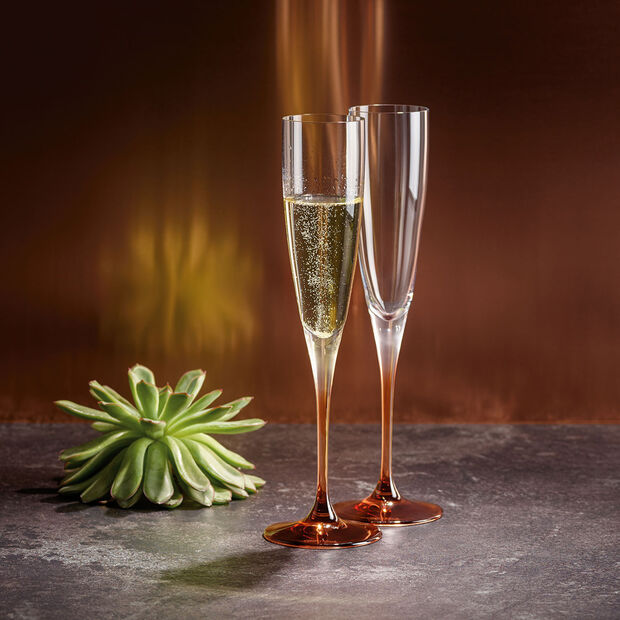 Manufacture Glass Flute Champagne, Set of 2, , large
