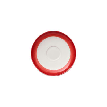 Colourful Life Deep Red Espresso Cup Saucer