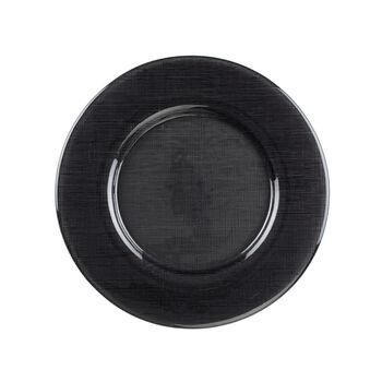 Verona Glass Charger: Black