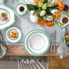 French Garden Green Line Rim Soup, , large