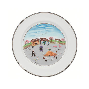 Design Naif Dinner Plate #3 - Country Yard