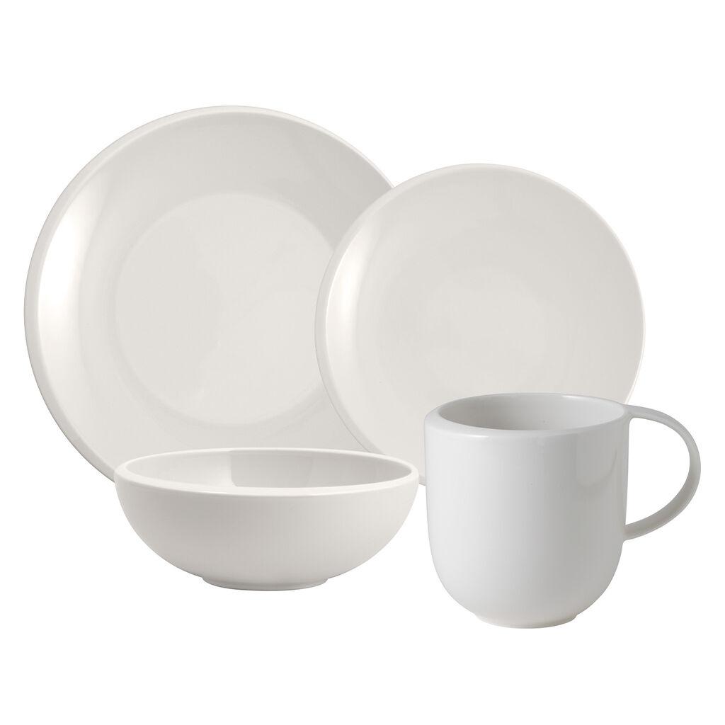 빌레로이 앤 보흐 뉴문 그릇 컵 세트 (4피스) Villeroy & Boch NewMoon 4 Pc Pl Set
