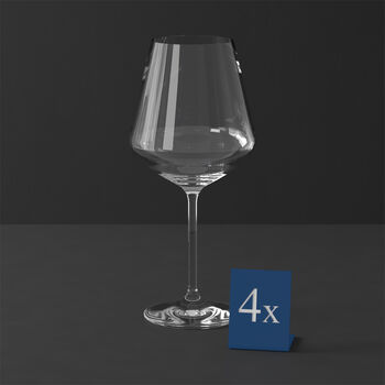 La Divina Burgundy : Set of 4 9.5 in