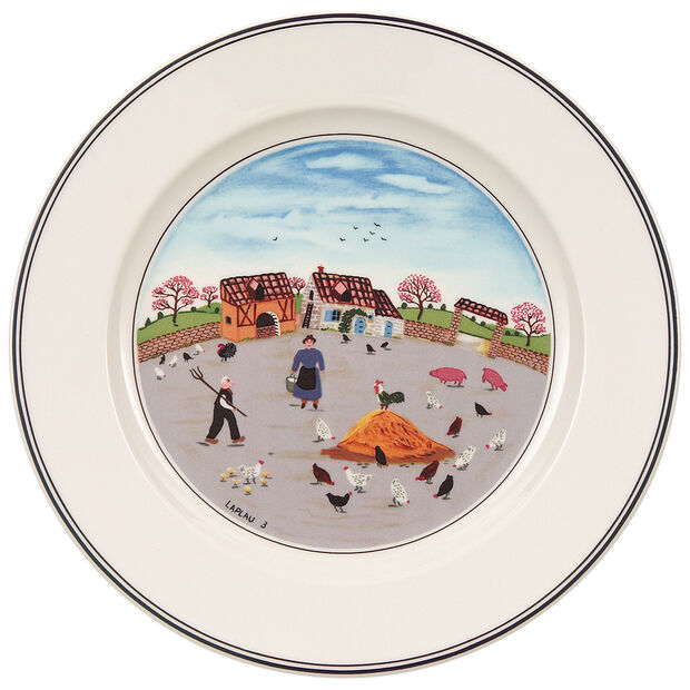 Design Naif Salad Plate #3 - Country Yard 8 1/4 in, , large