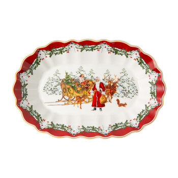 Toy's Fantasy Large Oval Bowl: Santa & Sleigh