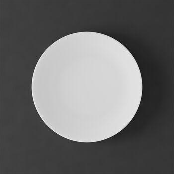 MetroChic Blanc Salad Plate: White Rim