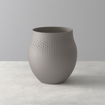Manufacture Collier Taupe Perle Vase, Large