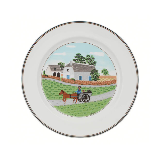 Design Naif Dinner Plate #1 - Going To Market, , large