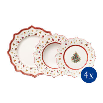 Toy's Delight Set of Plates, 12 pieces