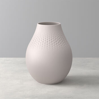Manufacture Collier Sand Perle Vase, Tall