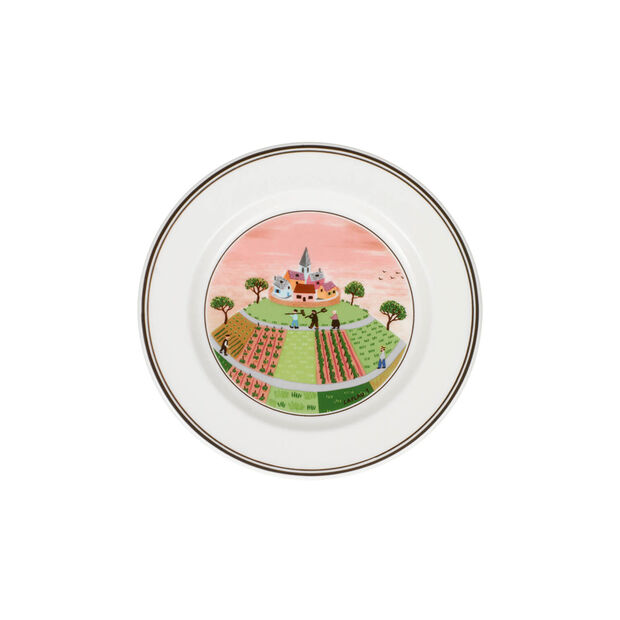 Design Naif Appetizer/Dessert Plate #1 - Farmers Village, , large