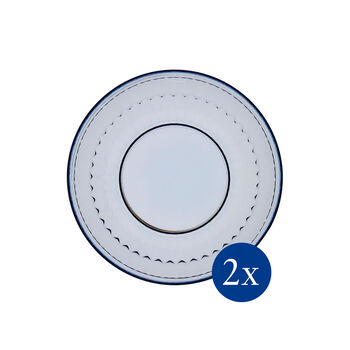 Boston Coloured Salad Plate: Blue, Set of 2