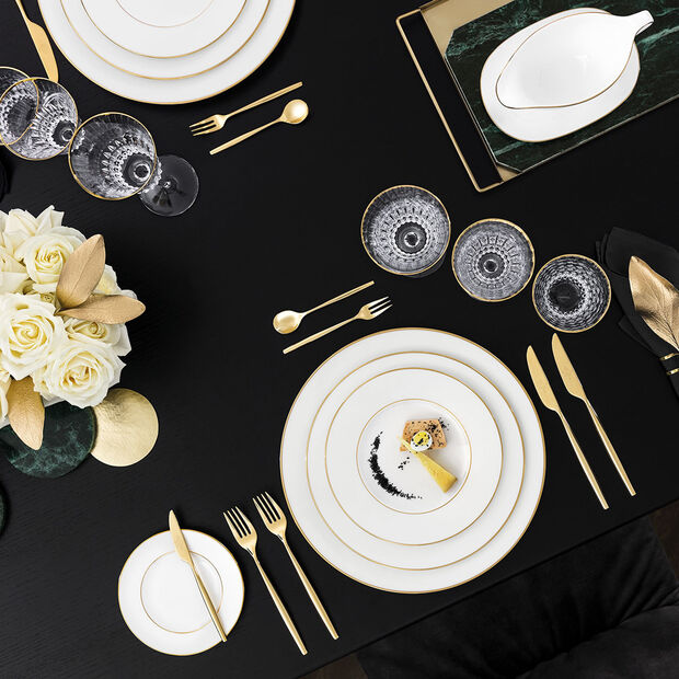 Anmut Gold Appetizer/Dessert Plate, , large