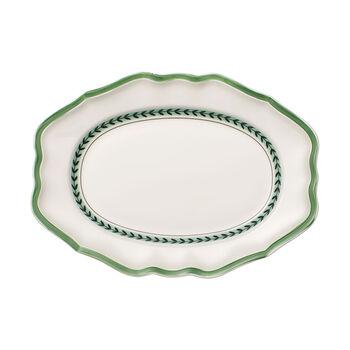 French Garden Green Line Oval Platter