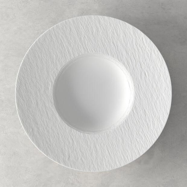 Manufacture Rock Blanc Pasta Plate, , large
