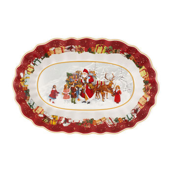 Toy's Fantasy Large Oval Bowl : Santa & Kids