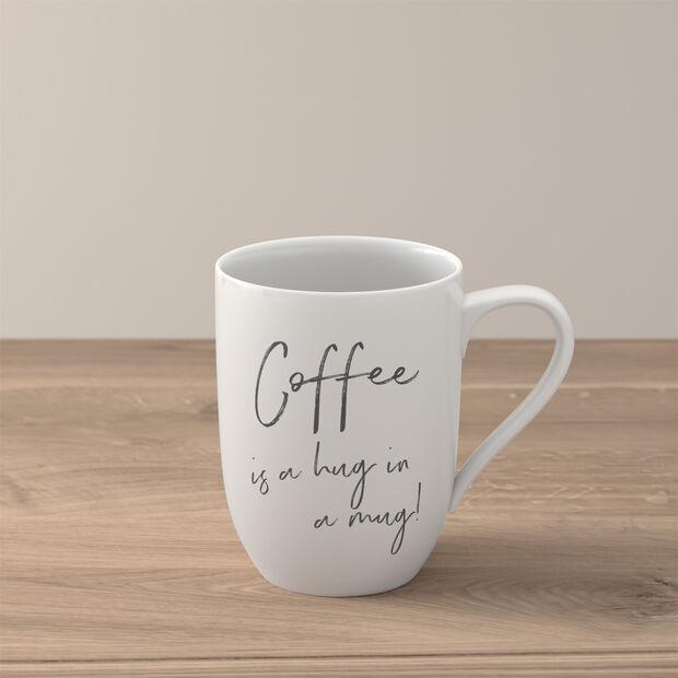 Statement Mug: Coffee is a hug in a mug, , large