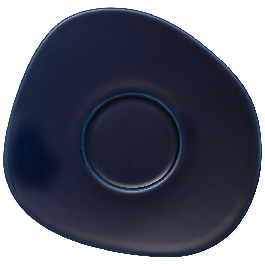 빌레로이 앤 보흐 오가닉 딥 블루 커피잔 받침대 Villeroy & Boch Organic Deep Blue Coffee Cup Saucer 6.75 in