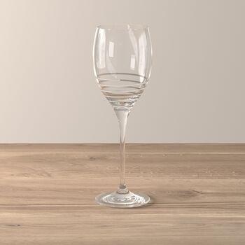 Maxima Decorated White Wine Glass: Spiral