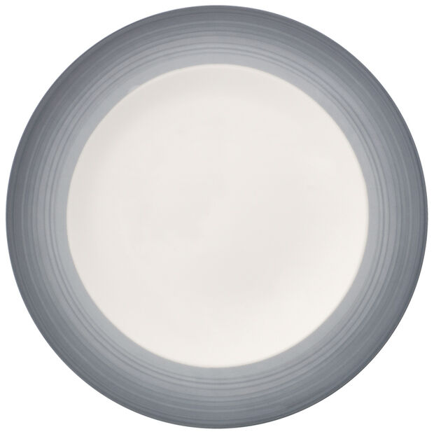 Colorful Life Cosy Grey Dinner Plate, , large