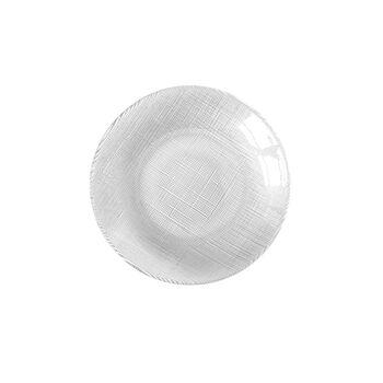 Verona Glass Salad Plate: Clear