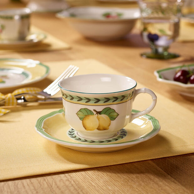 French Garden Fleurence Teacup Saucer, , large