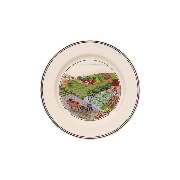 Design Naif Appetizer/Dessert Plate #4 - Plowing, , large