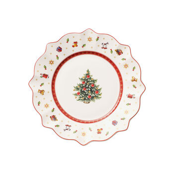 Toy's Delight Salad Plate: White