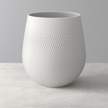 Manufacture Collier Blanc Carre Vase, Large