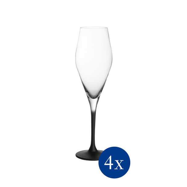 Manufacture Rock Stems Champagne Flute, Set of 4, , large