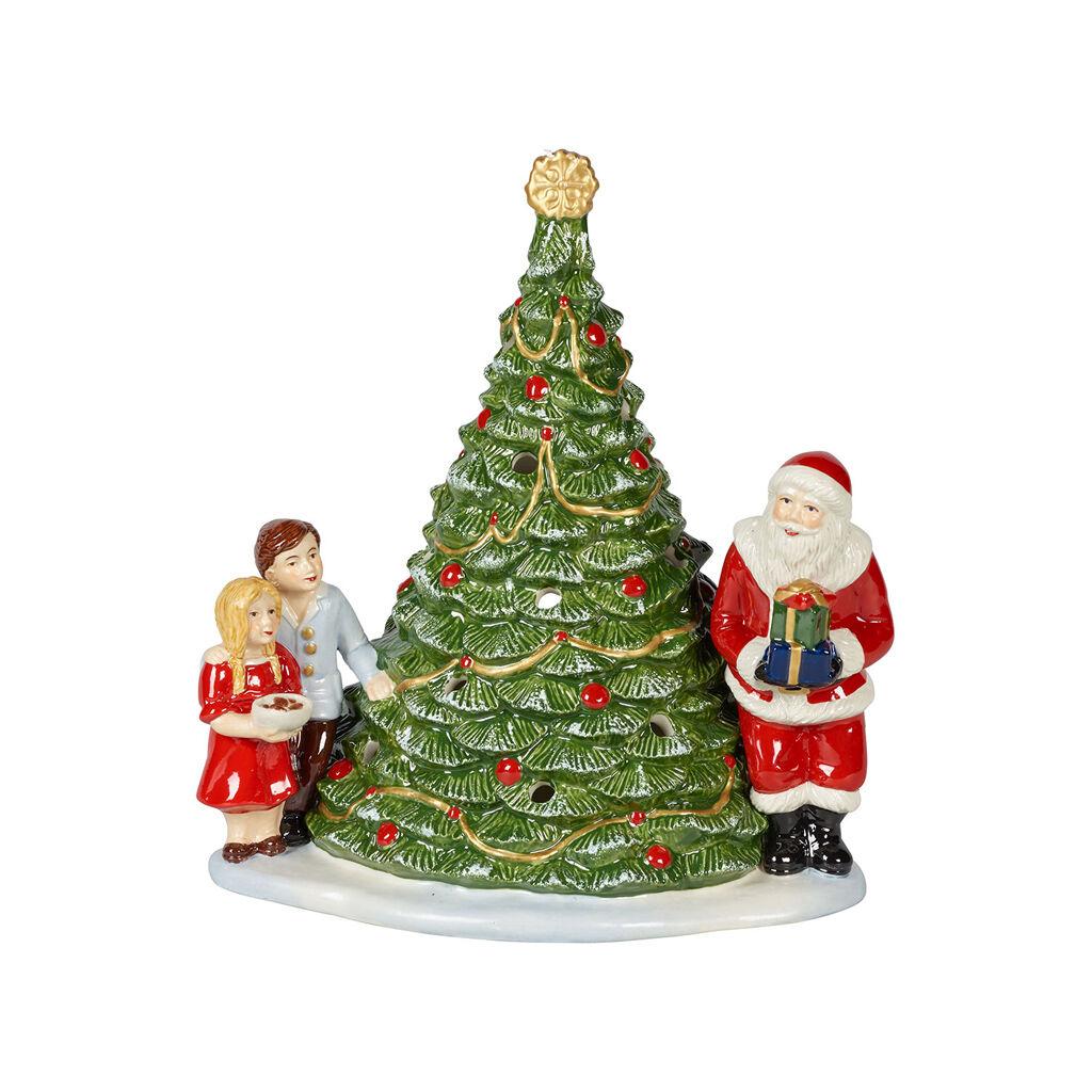 빌레로이 앤 보흐 '크리스마스 토이즈' 산타 온 트리 랜턴 Villeroy & Boch Christmas Toys Lantern : Santa on Tree 8x6.5x5 in
