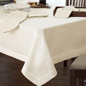"""La Classica Oblong Tablecloth: Ivory, 70x96"""""""