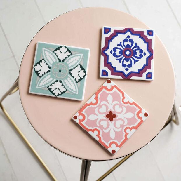 Table Accessories Coaster Set 2pcs. Jade Caro 11x11cm, , large