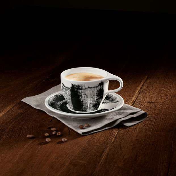 Coffee Passion Awake Cafe Au Lait Cup & Saucer Set, , large
