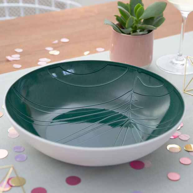 it's my match Green Serving Bowl: Leaf, , large