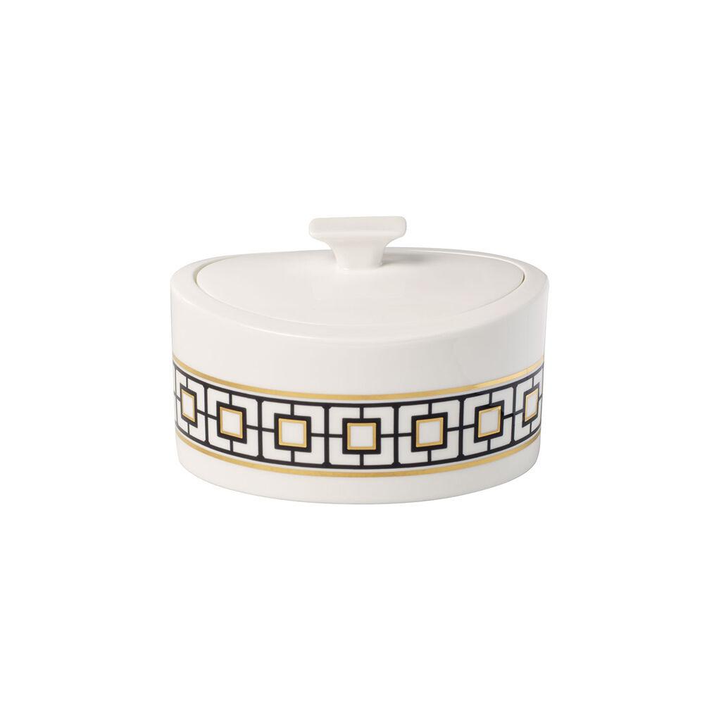 빌레로이 앤 보흐 '메트로 시크' 기프트 포세린 박스 Villeroy & Boch MetroChic Gifts Porcelain Box 6.25x6 in