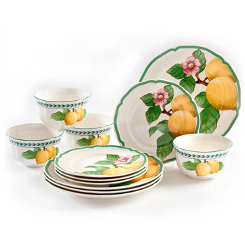 French Garden Modern Fruits: Lemon, 12 Piece Set