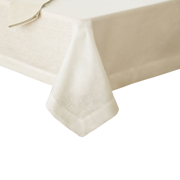 "La Classica Oblong Tablecloth: Ivory, 70x126"", , large"