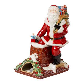 Christmas Toys Memories Figurine: Santa on Rooftop