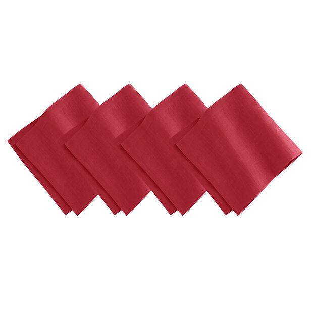 Red Dinner Napkin Set, , large