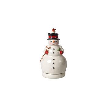 Nostalgic Melody Turning Snowman Music Figurine