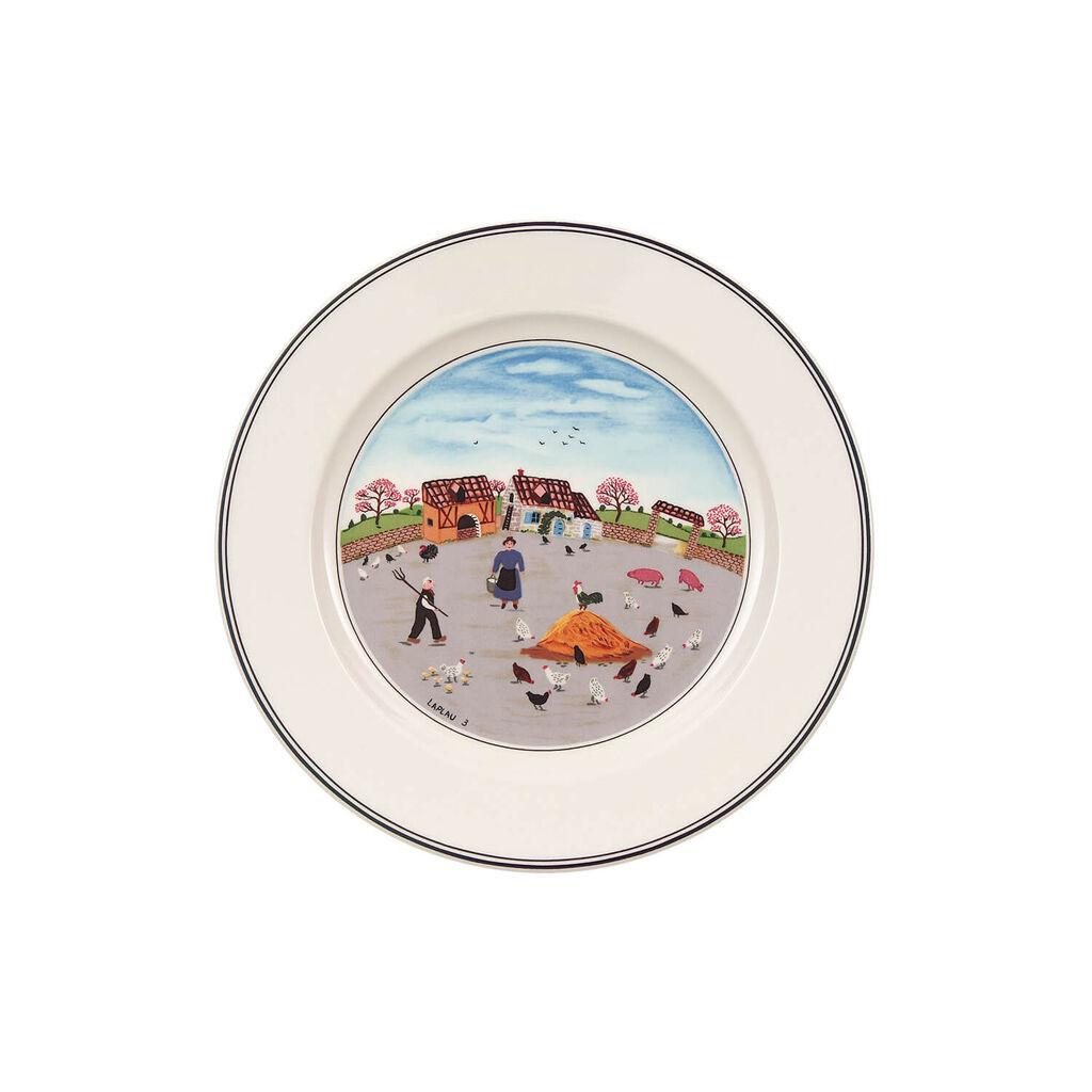 빌레로이 앤 보흐 디자인 나이프 샐러드 그릇 Villeroy&Boch Design Naif Salad Plate #3 - Country Yard 8 1/4 in