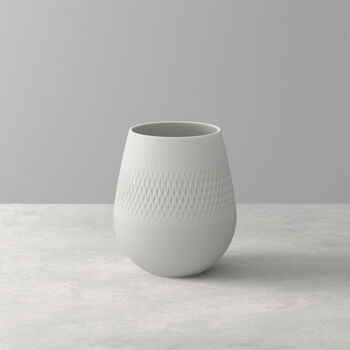 Manufacture Collier Blanc Carre Vase, Small