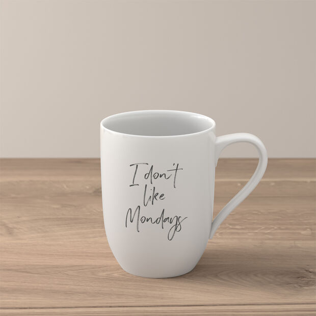 Statement Mug: I don't like Mondays, , large