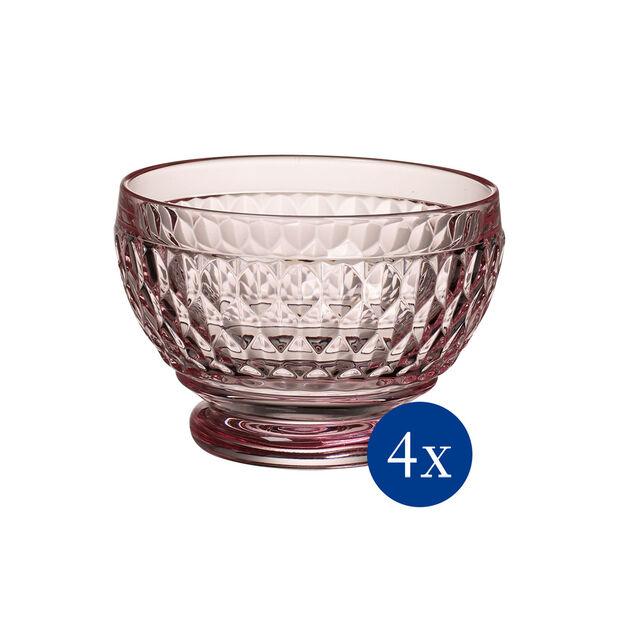 Boston Colored Individual Bowl: Rose, Set of 4, , large