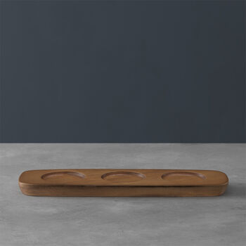 Artesano Original Acacia Wood Dip Bowl Tray