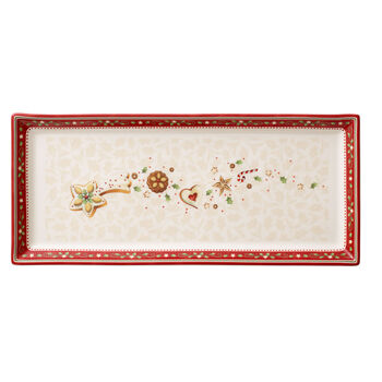 Winter Bakery Delight Rectangular Cake Plate