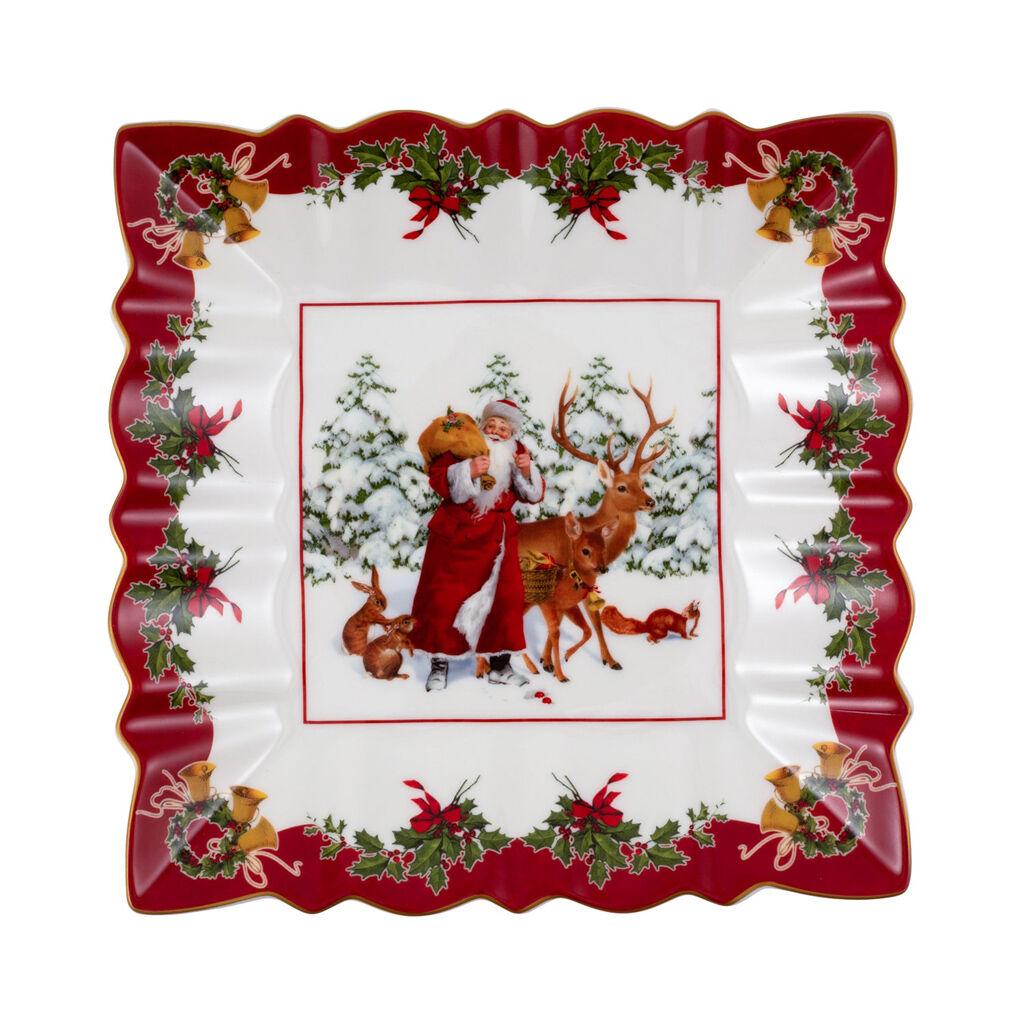 빌레로이 앤 보흐 '토이즈 판타지' 접시 Villeroy & Boch Toys Fantasy Bowl square, Santa with forest animals