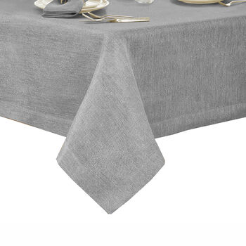 "La Classica Square Tablecloth: Grey, 70x70"""